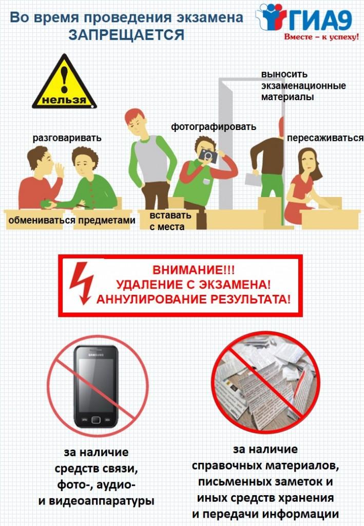 О правилах поведения во время экзамена_книжная1